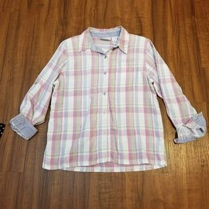 Alfred Dunner Petite Plaid Top